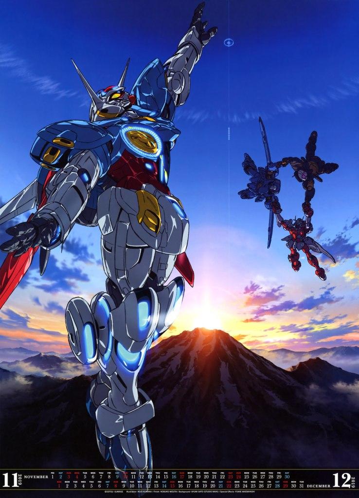 mẫu Lịch Gundam 2019 siêu đẹp