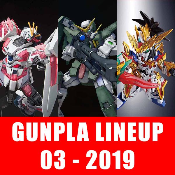 các mẫu gundam sắp phát hành tháng 3 - 2019