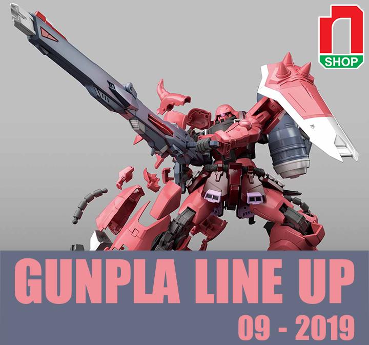 lịch phát hành gundam tháng 9-2019