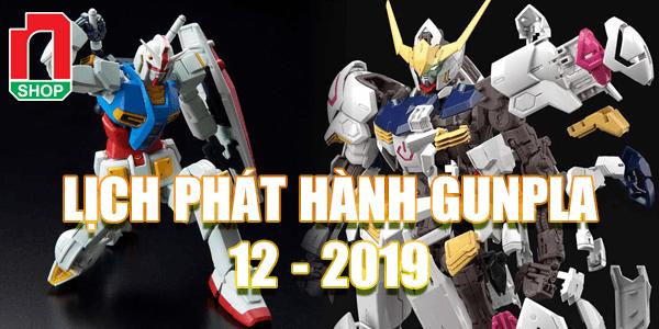 lịch phát hành gundam tháng 12-2019